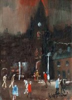41 - William Turner, New Cross Church, Manchester, oil