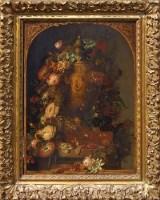 117 - Amos Green, Floral still life, oil