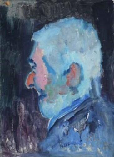 6 - J.L. Isherwood, Portrait of L.S. Lowry, oil
