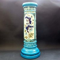 Lot 624-Burmantofts Faience jardiniere stand