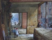 113 - Louise Rayner, Shoemaker's Row, Chester, watercolour
