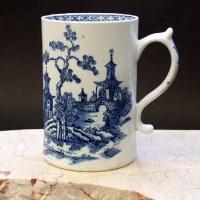 Lot 369-Lowestoft mug