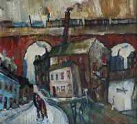 38 - William Turner, Couple In Stockport, oil