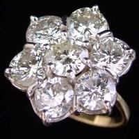 Lot 313-Large diamond cluster ring