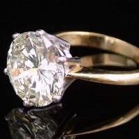 Lot 316-6.77ct single stone diamond ring