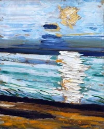 1 - John Bratby, Reflections, oil on canvas