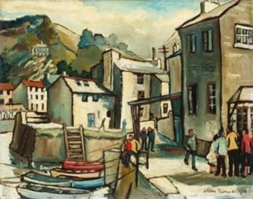2 - William Turner, Polperro Harbour, oil