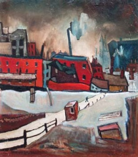 1 - William Turner, Trafford Park, oil