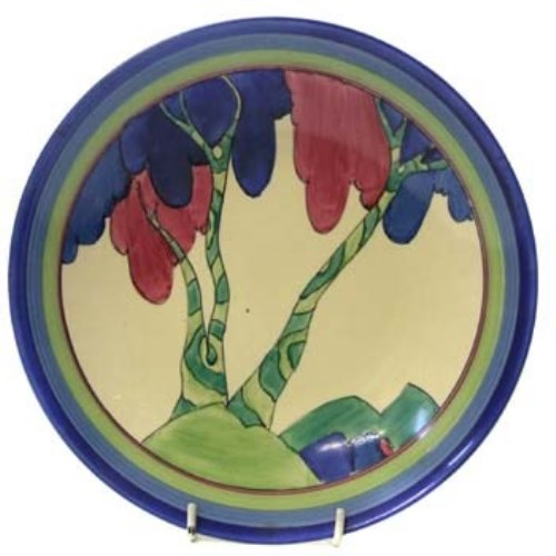 Lot 797-Clarice Cliff Rudyard Plate