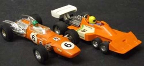 178 - Scalextric Spanish Matra F1 C14 and Tyrrell in orange