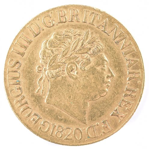 21 - 1820 George III gold sovereign.
