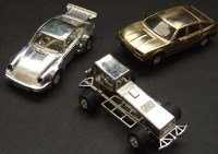 Lot 366 - Two Scalextric silver cars