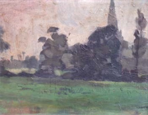 Lot 87-Geoffrey Key, Platt Fields Park, oil