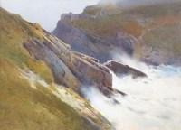151 - Arthur Tucker, Tintagel, watercolour