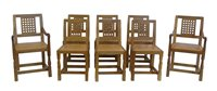 """372 - Robert """"Mouseman"""" Thompson set of eight dining chairs."""