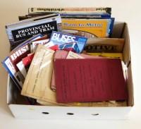 50 - Box of railway timetables British Rail passenger