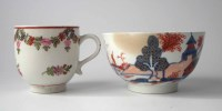 Lot 109-Lowestoft coffee cup circa 1780, painted with