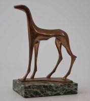 524 - Arthur Dooley, Poseur, bronze sculpture.