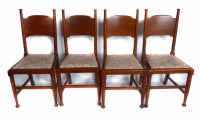 636 - Arts & Crafts dining chairs