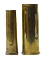 19 - Two WWI brass shell cases.