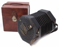42 - Wheatstone 65 key aeola or concertina, serial