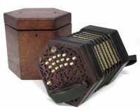 44 - Lachenal & Co. 33 key Peerless concertina,
