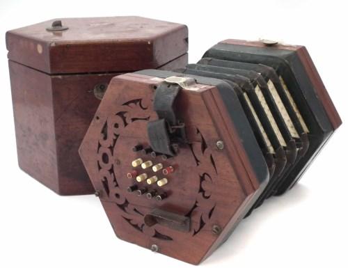 Lot 47-William Sprague 32 key concertina