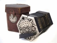 49 - Charles Jeffries 39 key concertina, with pierced