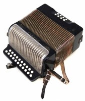 50 - Hohner Erica accordion, with twentyone button