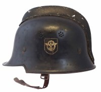 65 - German WW2 Third Reich Fireman's helmet, with