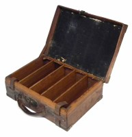 67 - Leather cartridge case bearing initials E.P.J.