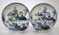 Lot 168-Pair of Lowestoft teabowls and saucers circa 1780