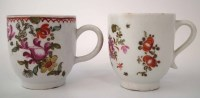 Lot 170-Two Lowestoft coffee cups circa 1780, painted