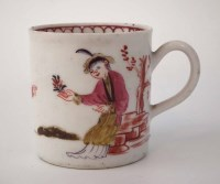 Lot 171-Lowestoft coffee can circa 1780, painted with