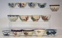 Lot 188-Fourteen 18th century tea bowls.