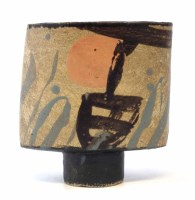 262 - John Maltby (1936-) footed vessel, painted
