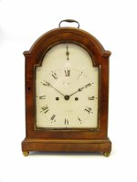 599 - A Regency mahogany cased table clock