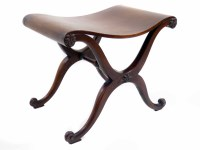 647 - George II mahogany hall stool,