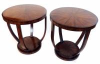 657 - Art Deco design rosewood veneered side tables