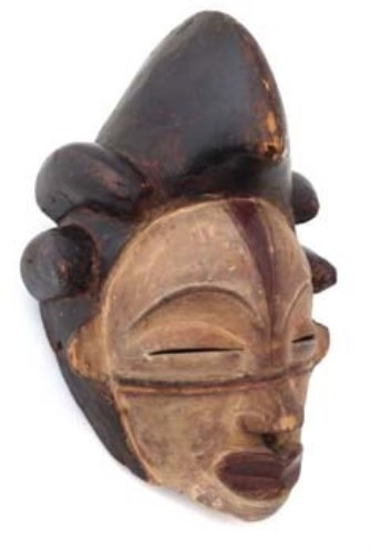15 - Punu mask, 28cm high     All lots in this Tribal