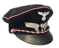41 - German WW2 Third Reich Railway cap, with eagle