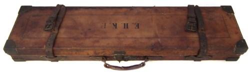 Lot 43-Leather gun case
