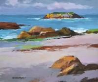 256 - Donald McIntyre, Isle of Tangles No. 9 (Iona), acrylic.