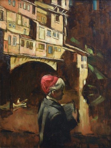 269 - Harold Riley, Boy in Florence, oil.