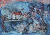 308 - J.L. Isherwood, Fairy Glen, Dwygyfylchi, oil.