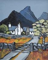 312 - David Barnes, Mountain Farm, oil.