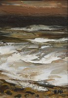 314 - Donald McIntyre, Sea, Evening Sun, oil on board.