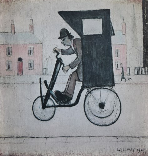 443 - After L.S. Lowry, The Contraption, signed print and another unsigned (2).