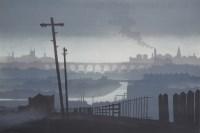451 - After Trevor Grimshaw, Stockport Viaduct, signed lithograph.