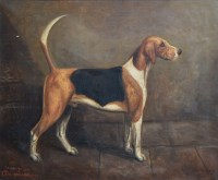 460 - Herbert St. John Jones, The Cheshire Hunt, Commodore, First Prize Foxhound, oil.